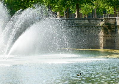 Nîmes, the fountain garden