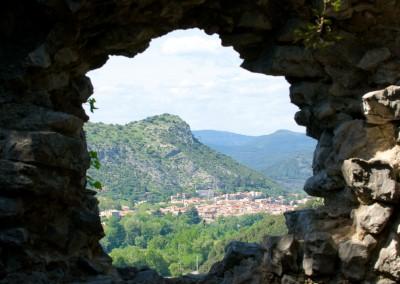 Anduze vue du château de Tomac