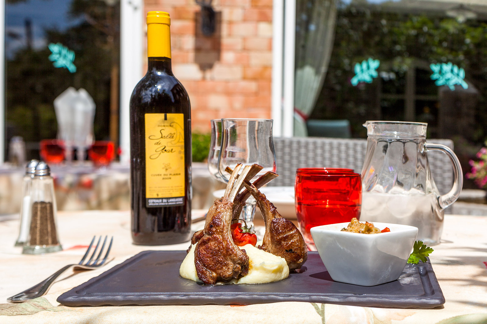 Taste the cevenol kitchen on our terrace