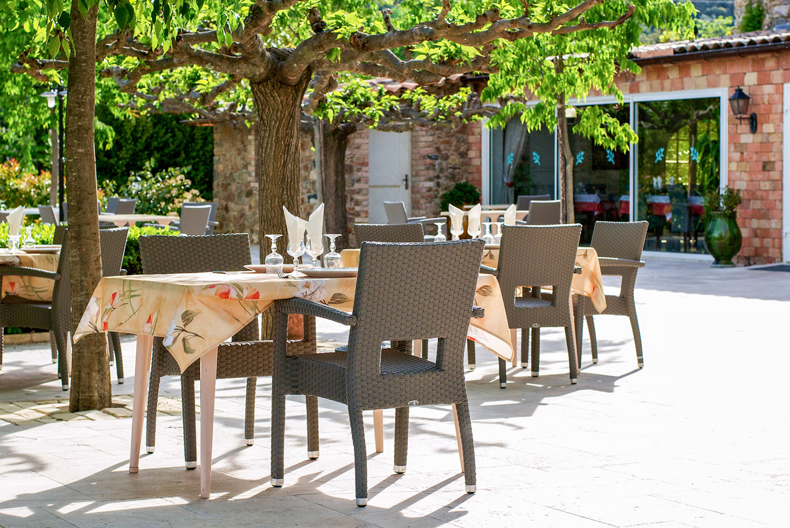 Take place on our terrace