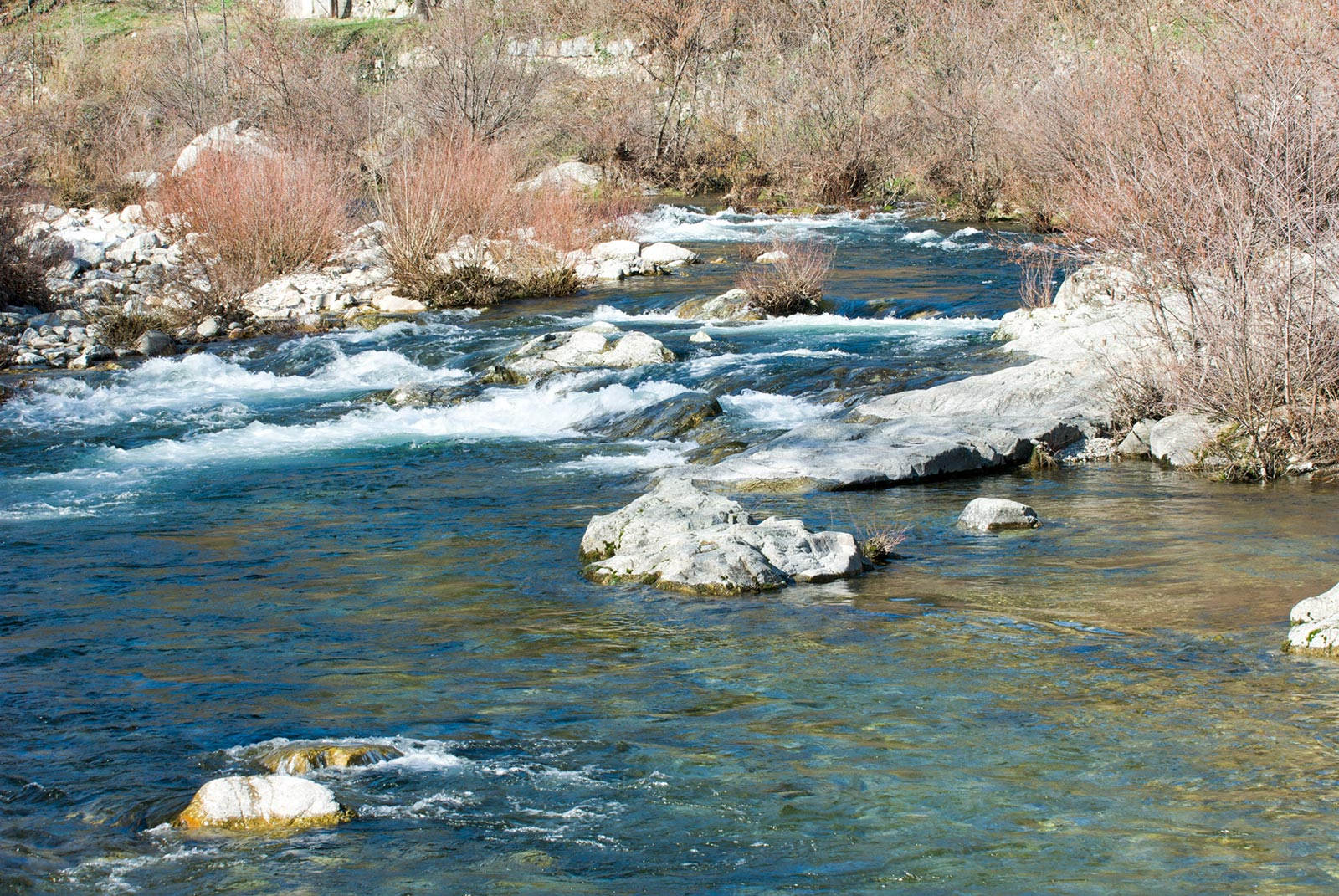 The river Gardon near Anduze very close to our hotel restaurant