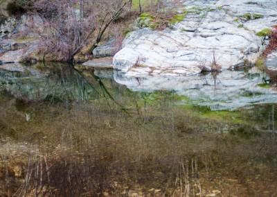 La rivière du Gardon, en Cévennes, à proximité d'Anduze